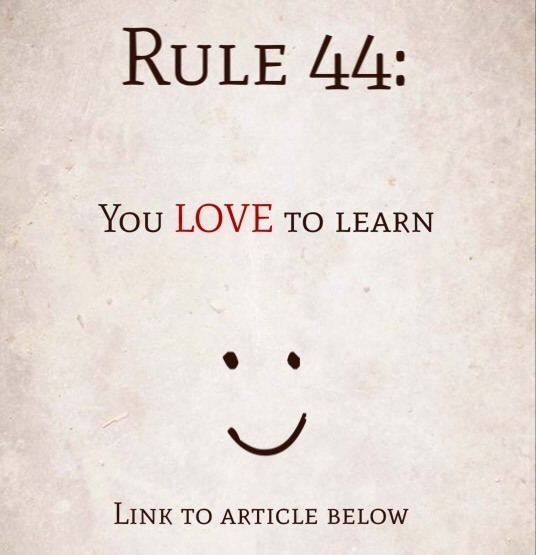 Rule 44: You Love To Learn